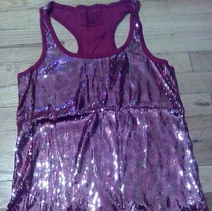 DKNY Jeans Sequin racer back Tank top
